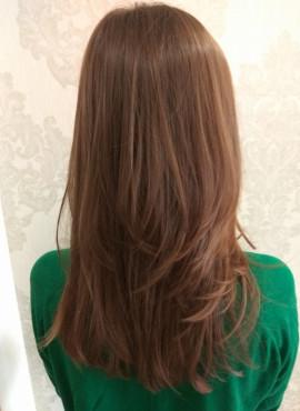 женская стрижка на длинные волосы